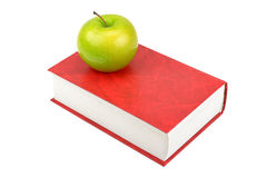 Apple and book Royalty Free Stock Image