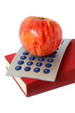 Apple Book and Calculator Stock Images