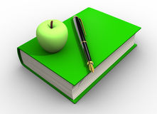 Apple on a book Royalty Free Stock Photos