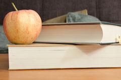 Apple and book Stock Image
