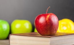 Apple and book Stock Photo