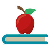 Apple book school symbol Royalty Free Stock Image