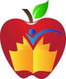 Apple book. A vector drawing represents apple book design stock illustration