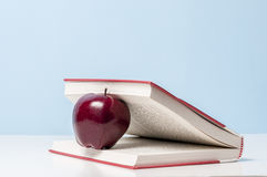 Apple and book Royalty Free Stock Photography