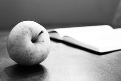 Apple and book Royalty Free Stock Photo