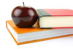 Apple On Books Stock Photography