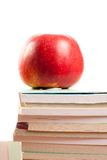 Apple and books Stock Image