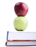 Apple on books Royalty Free Stock Photography