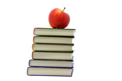 Apple on books Royalty Free Stock Images