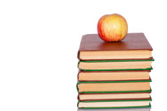 Apple and books Stock Photo