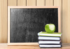 Apple on books Stock Image