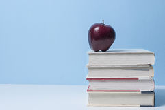 Apple and books, education Royalty Free Stock Photos