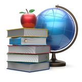Apple books globe blank global international knowledge icon Royalty Free Stock Images