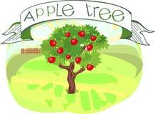Apple-boom met titel vector illustratie