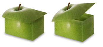 Apple boxes Stock Image
