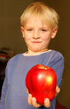 Apple boy Royalty Free Stock Photo