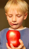 Apple boy Royalty Free Stock Image