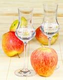 Apple brandy Stock Photo