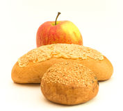 Apple and bread Royalty Free Stock Photo