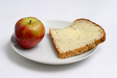 Apple and bread Stock Photo