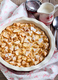 Apple and bread pudding Royalty Free Stock Image