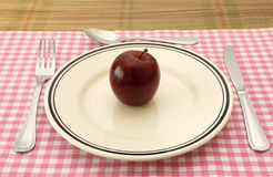 Apple for breakfast Stock Image