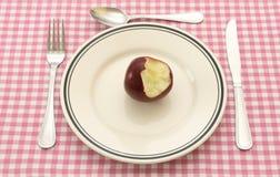 Apple for breakfast Stock Image