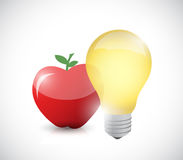 Apple and bright light isolated Stock Photography