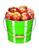 Apple bucket Stock Photos