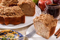 Apple bundt cake. In holiday setting Royalty Free Stock Photos