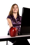 Apple and business woman Stock Photos