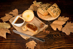 Apple butter of fall Stock Image