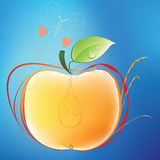 Apple and butterfly Royalty Free Stock Images