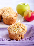 Apple buttermilk muffins Stock Photos