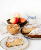 Apple cake. With jam and apple Royalty Free Stock Image