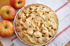 Apple Cake. With Apples on a table Stock Images