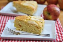 Apple Cake. On a plate with an apple Stock Photos