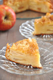 Apple Cake. On a plate Royalty Free Stock Image