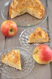 Apple Cake. On a plate Royalty Free Stock Photography