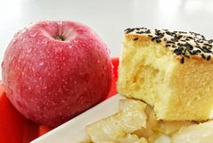apple&cake royaltyfri foto