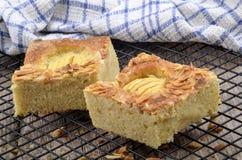 Apple cake with almond flakes Stock Photos