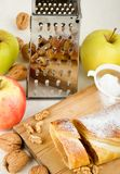 Apple cake / Apfelstrudel Royalty Free Stock Photo