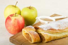 Apple cake / Apfelstrudel Stock Photo