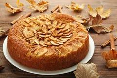 Apple cake stock image