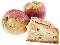 Apple Cake with Apples Royalty Free Stock Photography