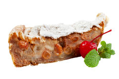 Apple cake with apricot Royalty Free Stock Image