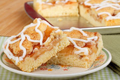Apple Cake Bars Royalty Free Stock Photos