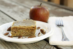 Apple Cake with Brown Sugar Glaze Royalty Free Stock Photography