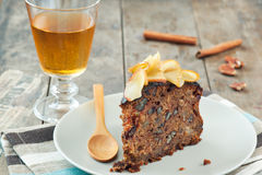 Apple cake and cider Royalty Free Stock Images