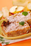 Apple cake with cinnamon Stock Images
